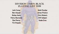 2019 Division 2 Men Black Squad