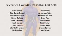 2019 Division 3 Women Squad