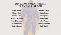 2019 Division 2 Men Purple Squad
