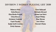 2019 Division 2 Women Squad