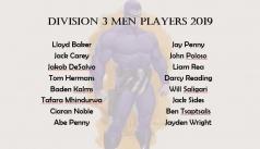 2019 Division 3 Men Squad
