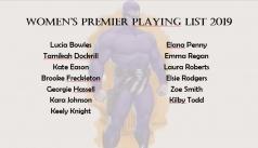 2019 Premier Women Squad