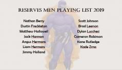 2019 Reserves Men Squad